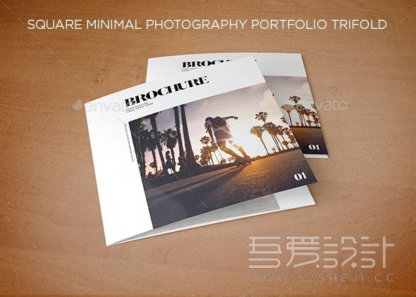 多用途产品照片展示3折页InDesign模板