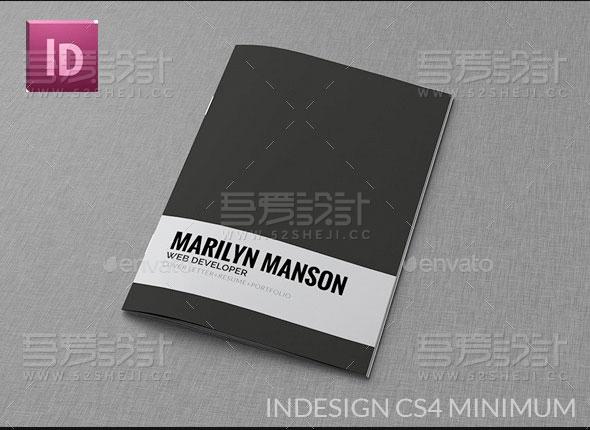 求职应聘简历InDesign小画册模板