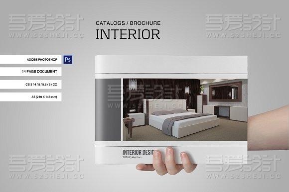 家居装修产品展示多用途PS画册模板