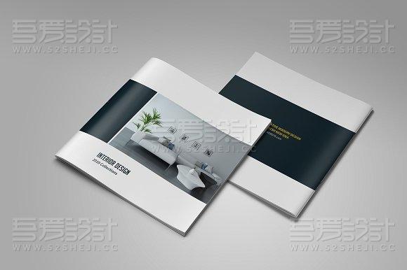 16P家居装修装饰风格InDesign画册模板