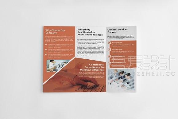 企业宣传3折页手册indesign模板