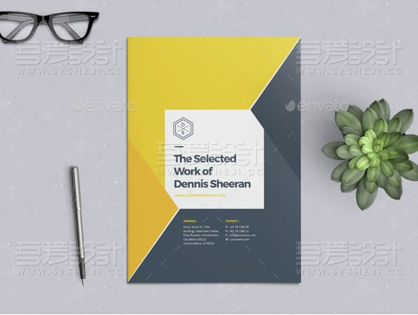 24页公司团队介绍通用画册模板
