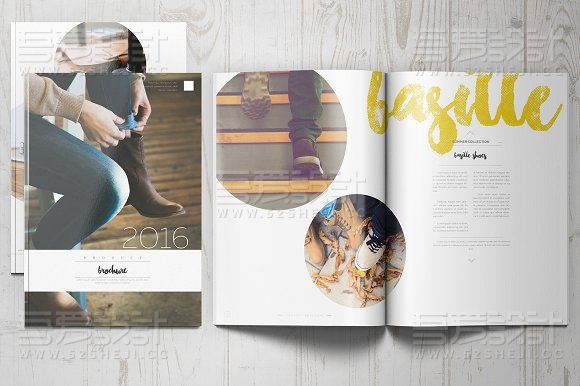 20页杂志人物展示画册模板