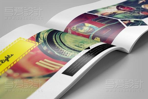 16页摄影图片展示画册模板