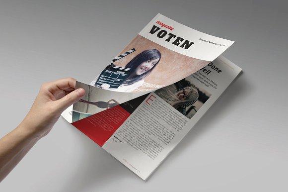 28页商务杂志通用画册模板