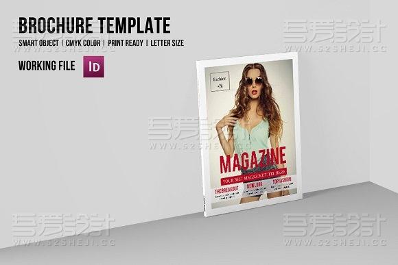 32页摄影人物模特展示杂志风格画册模板