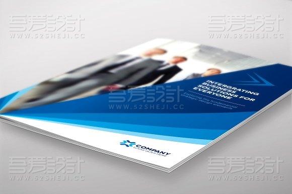 业务洽谈合作通用画册模板