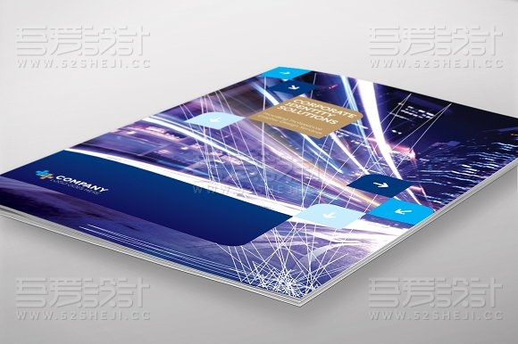 互联网科技公司画册模板