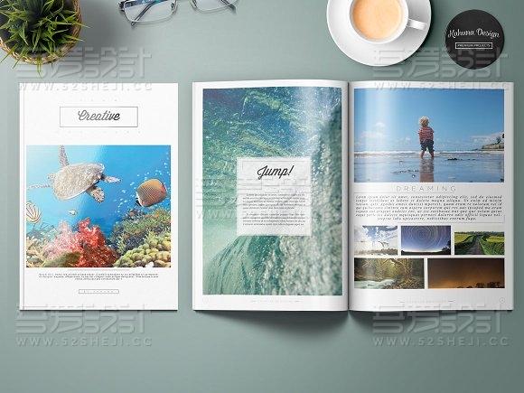24页旅游度假风景介绍画册模板