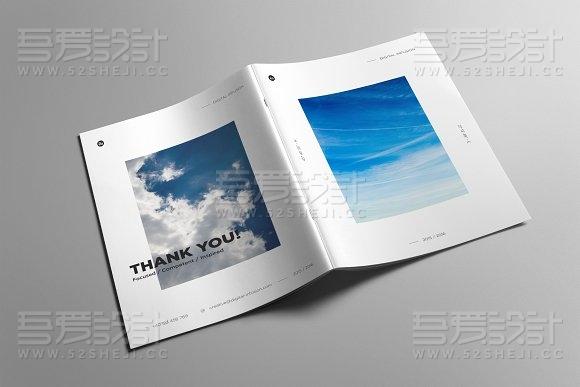24页简约文艺风格画册模板