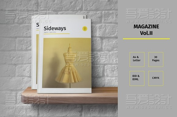 30页创意杂志风格画册模板