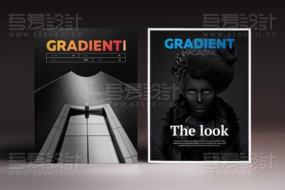 32页商务杂志风格画册模板