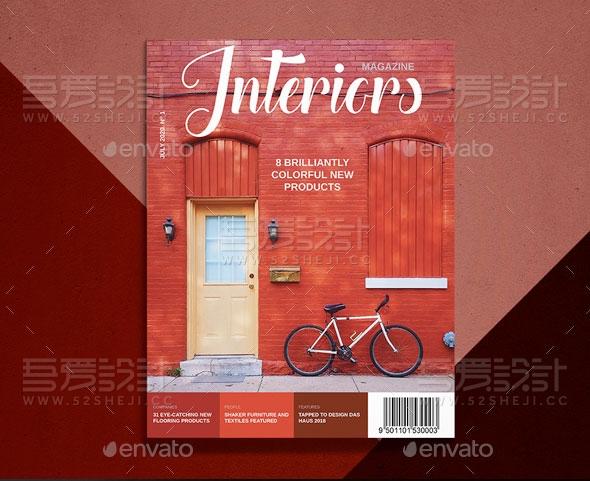 家居装饰内饰风格杂志画册模板