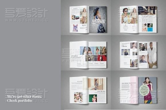 32页人物写真模特展示画册模板