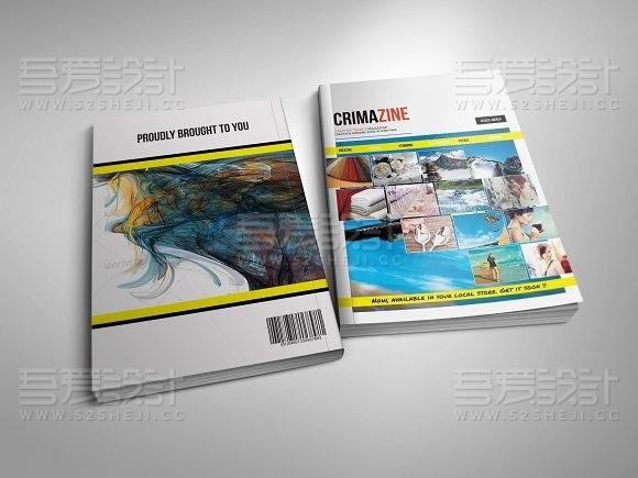 32页旅游摄影探险画册模板
