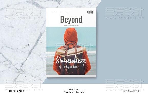 38页旅游摄影杂志画册模板