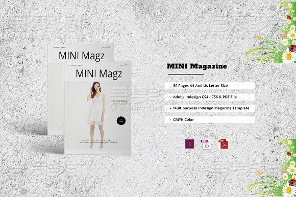 30页服装模特展示画册模板