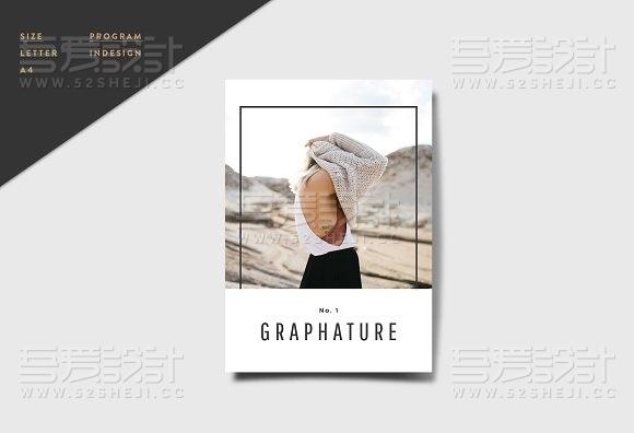 30页杂志风格画册模板