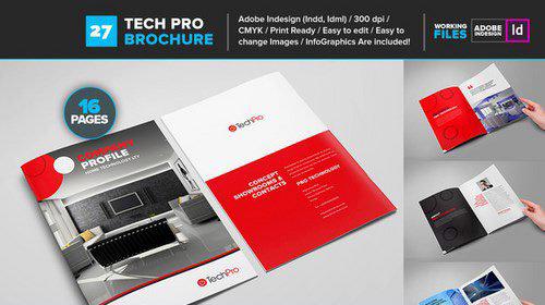 16页红色企业家居画册模板