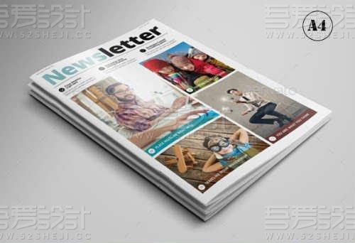 12页多功能通讯杂志画册模板