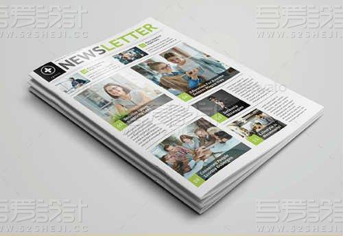12页新闻稿杂志画册模板