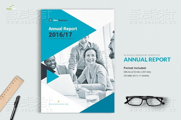 40页团队介绍企业通用画册模板