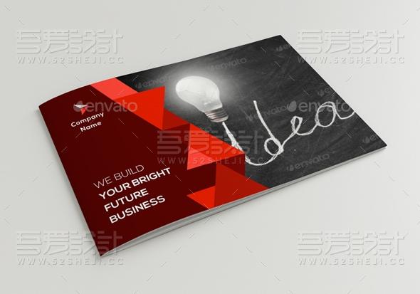 红色创意企业通用画册模板