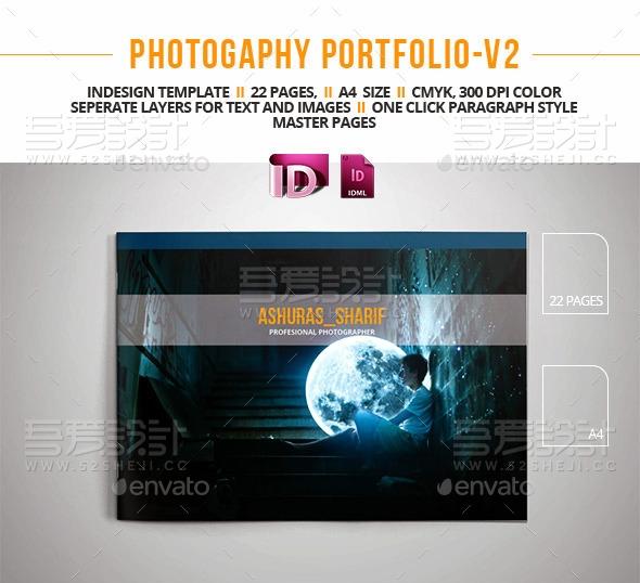 22页摄影组合横板画册模板