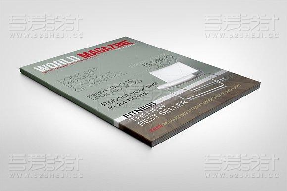 24页多用途杂志世界画册模板