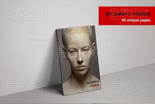 艺术雕塑产品展示多用途画册模板