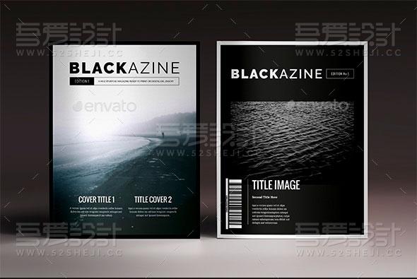 黑色高端大气企业画册模板