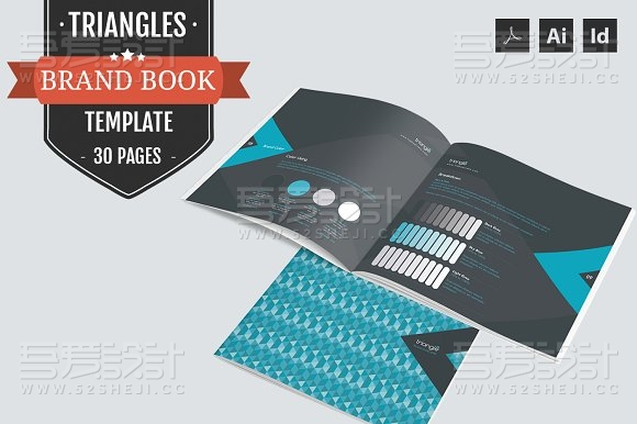 蓝色创意企业画册模板