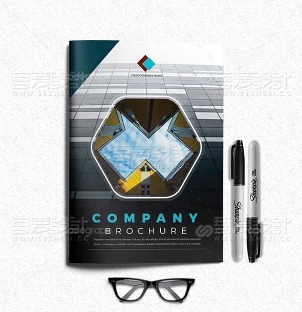 高端大气企业宣传画册模板