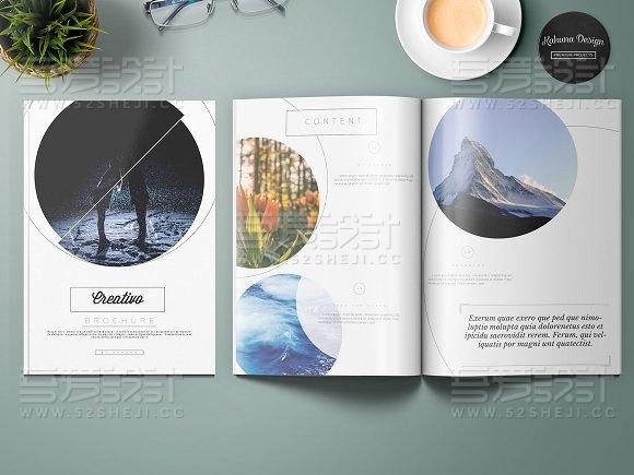 创意图片展示画册模板