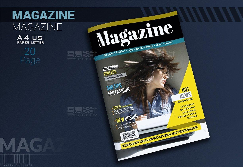 摄影写真杂志画册模板