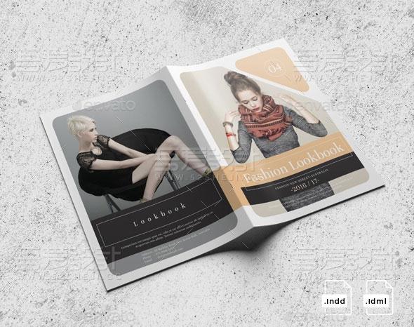 创意服装展示企业宣传画册模板