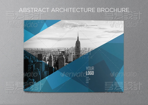 蓝色创意企业宣传画册模板