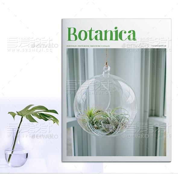 植物介绍画册模板