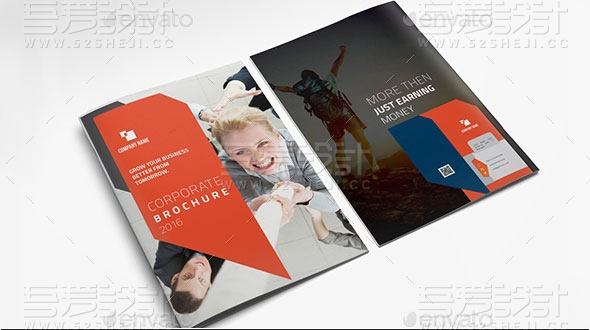 高端欧美风格企业宣传画册模板