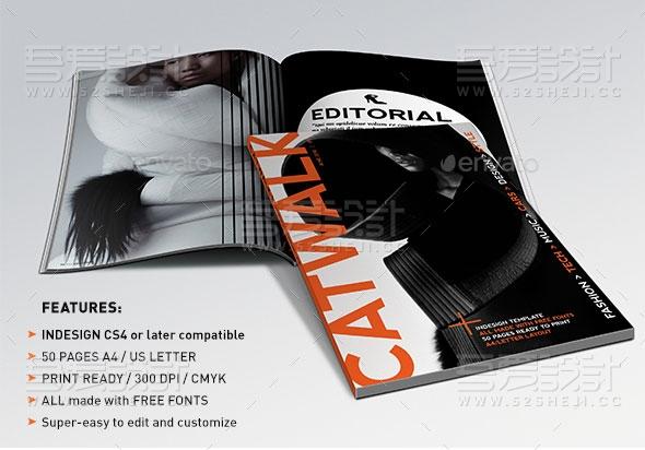 产品展示欧美风格杂志画册模板
