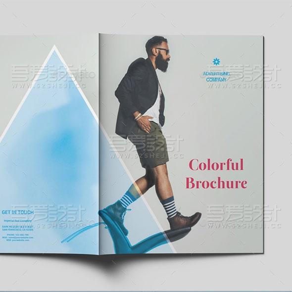 丰富多彩的商业宣传画册模板