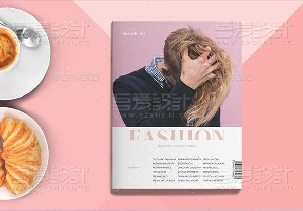 服装展示人物摄影杂志画册模板