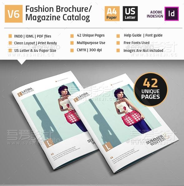 奢侈品服装包包鞋子展示宣传画册模板