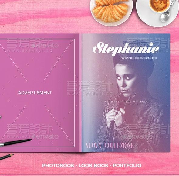 欧美风格杂志画册模板