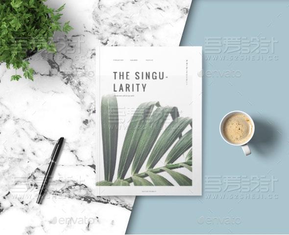 植物摄影杂志宣传画册模板