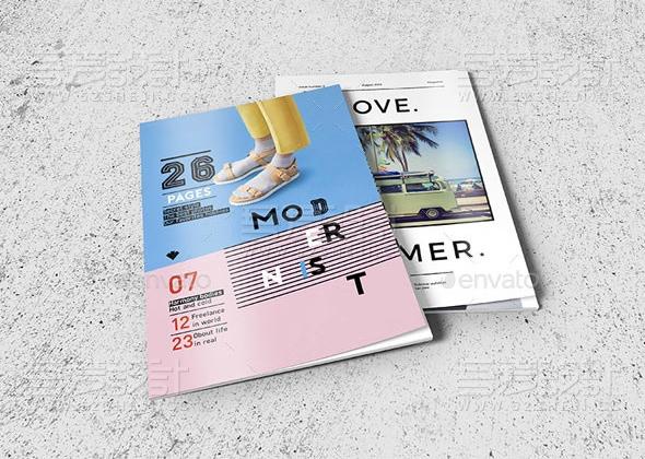 简约创意欧美风格产品展示画册模板