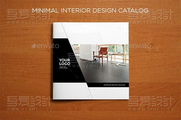 室内设计家具展示宣传画册模板