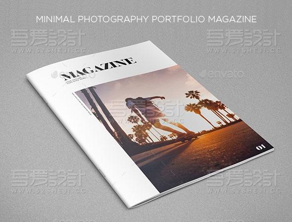 最小摄影组合杂志画册模板