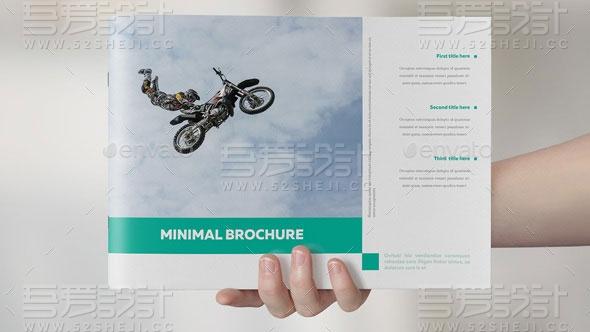 简约大气现代风格摄影写真杂志宣传画册模板