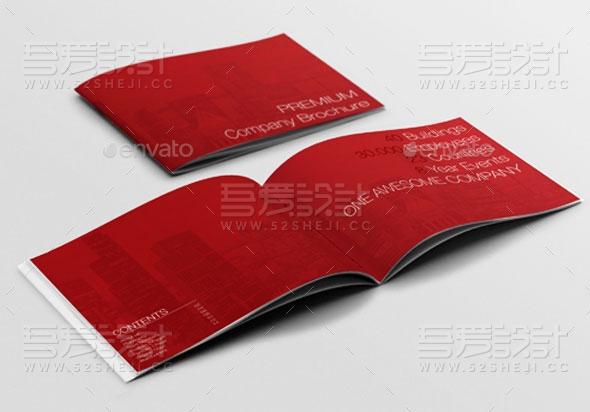红色高端大气企业宣传画册模板